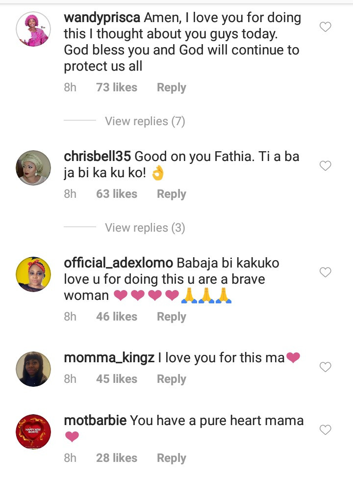 Fathia Williams puts differences aside to condole with Iyabo Ojo on the death of her mother