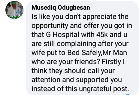 """Lol. Man calls out General Hospital for charging a woman N51,000 bill after """"one hour labour and successful self delivery"""""""