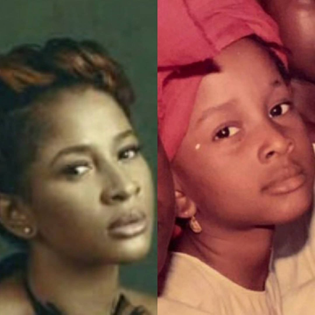 """""""She would have been my spec even when I was 10"""" - Banky W says as he shares photos of his wife, Adesua, as a girl"""
