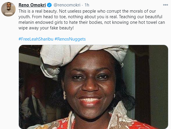Reno Omokri throws jab at slay queens using late Maryam Babangida