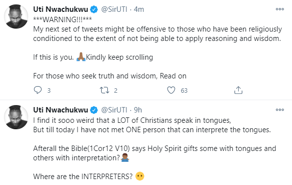 Speaking in tongues has been abused so much in the Christian community  because it's so easy to fake it - Uti Nwachukwu