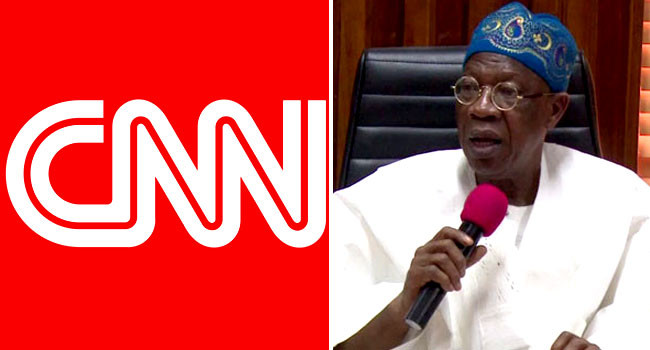 Lekki shooting: ?Your report is capable of setting Nigeria on fire? ? Lai Mohammed writes CNN