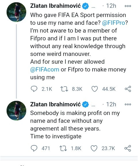 Zlatan Ibrahimovic slams EA Sports for using his