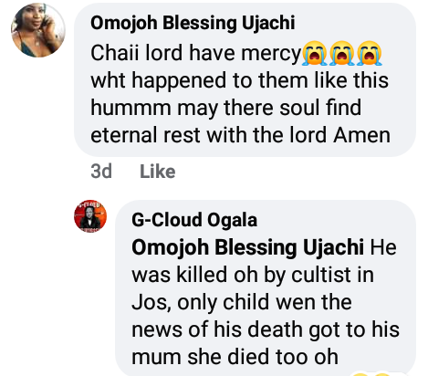 Woman slumps and dies in Plateau state hours after hearing news of her only child