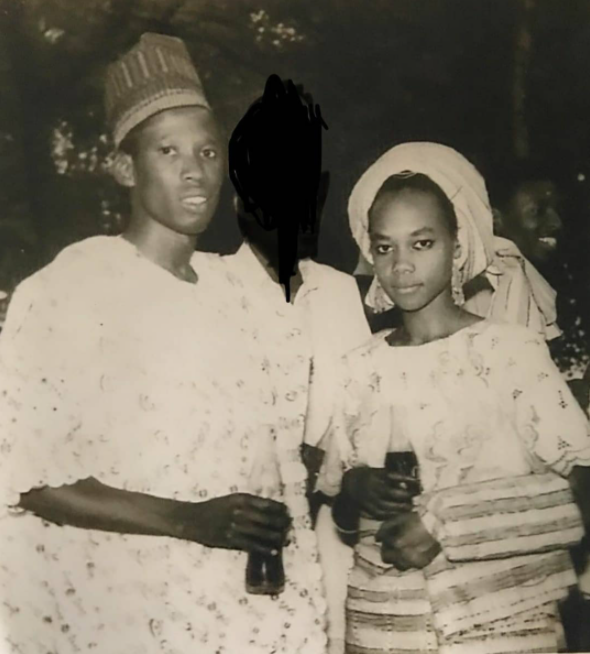 Throwback photo of Governor Ganduje and his wife Hafsat Umar Ganduje