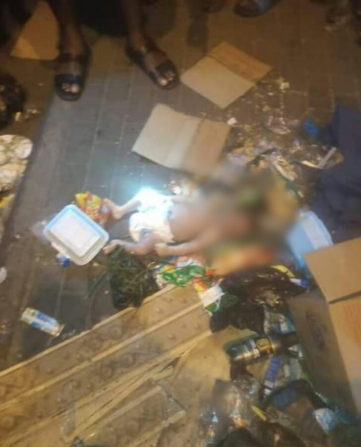 Day-old baby found dead at refuse dump in Port Harcourt (photos)