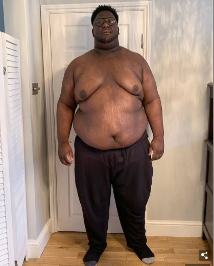 Man loses half his body weight after getting fed up with being the