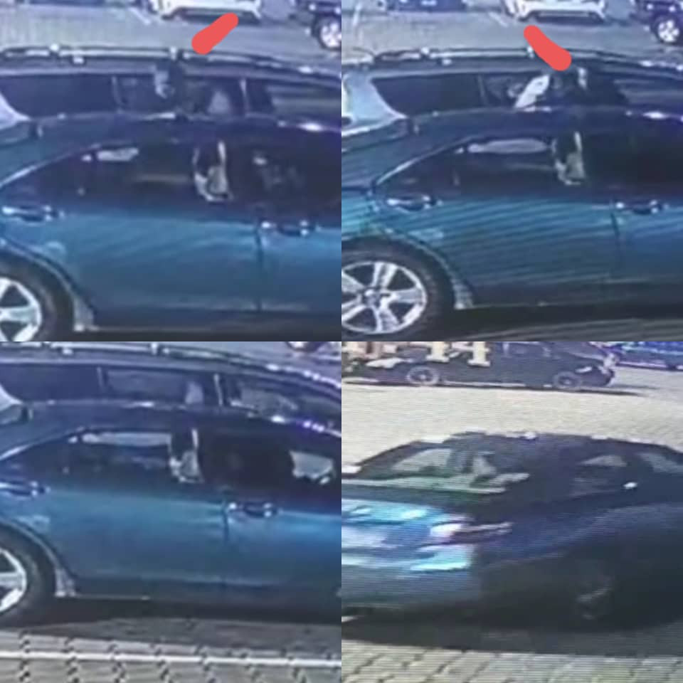 Man drives into a supermarket in Lekki, breaks into the car parked next to his and carts away items inside (video)
