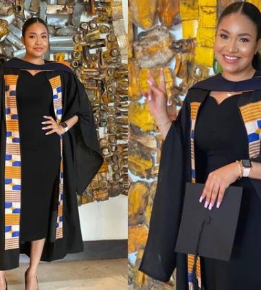 Ex-beauty Queen, Anna Banner, bags degree from Ghanaian University (photos)