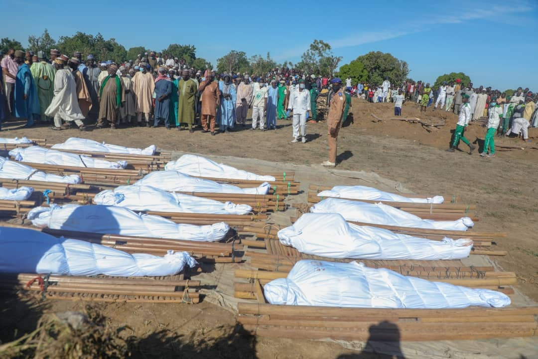 Zabarmari Massacre: Photos from the funeral of 43 rice farmers slaughtered by Boko Haram terrorists in Borno