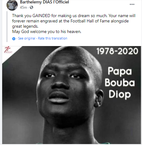 Senegal World Cup hero, Pape Bouba Diop dies at 42 after battling with long illness