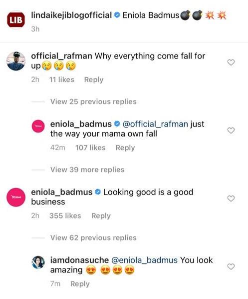 Actress Eniola Badmus slams troll who tried to body shame her over her bikini photo