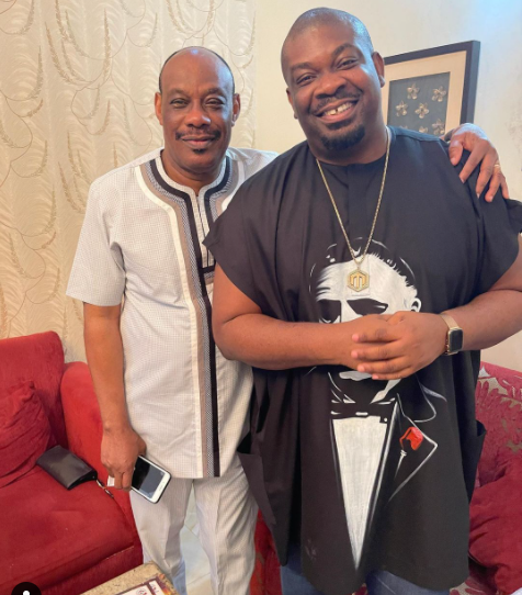 Don Jazzy shares a photo with his father