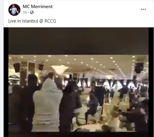 Turkish police storm RCCG church in Istanbul to arrest members for allegedly flouted COVID-19 social distancing rules (video)