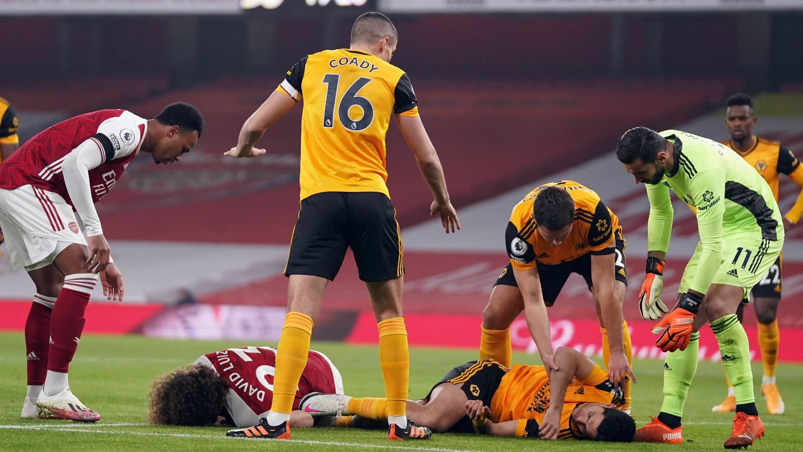 Raul Jimenez undergoes surgery after head clash with David Luis in Arsenal game*