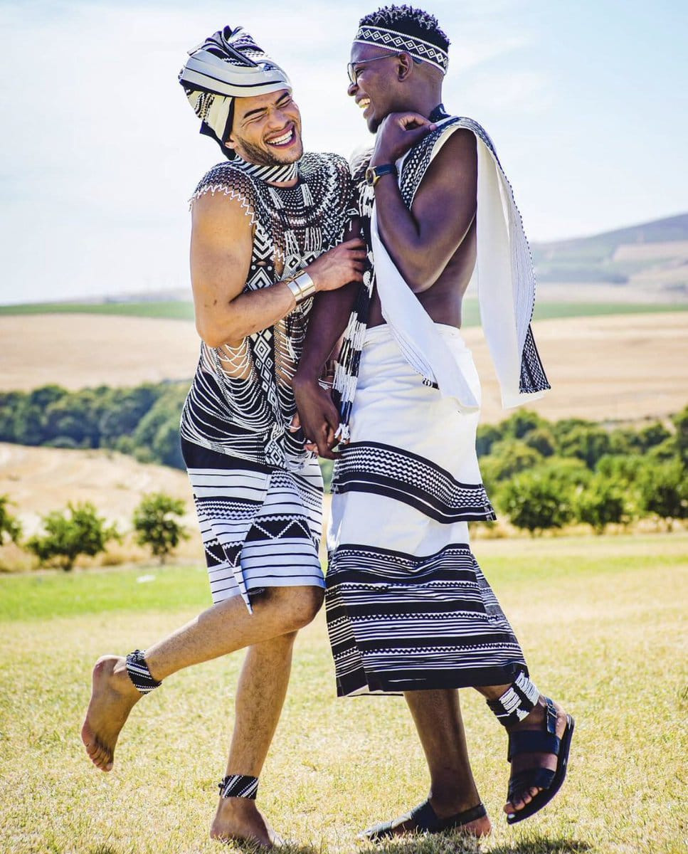 African gay couple married in african attire (photos)*