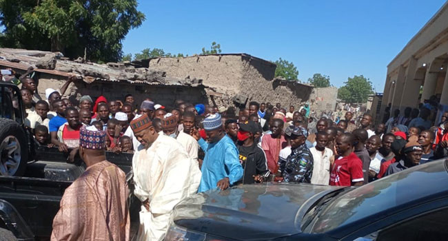 Lawan leads FG delegation on condolence visit after 43 rice farmers were killed by Boko Haram in Borno state lindaikejisblog