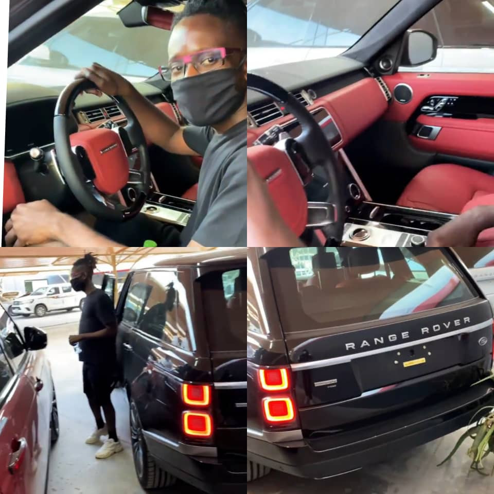 Singer, Mr Eazi, buys himself a Range Rover as Christmas gift