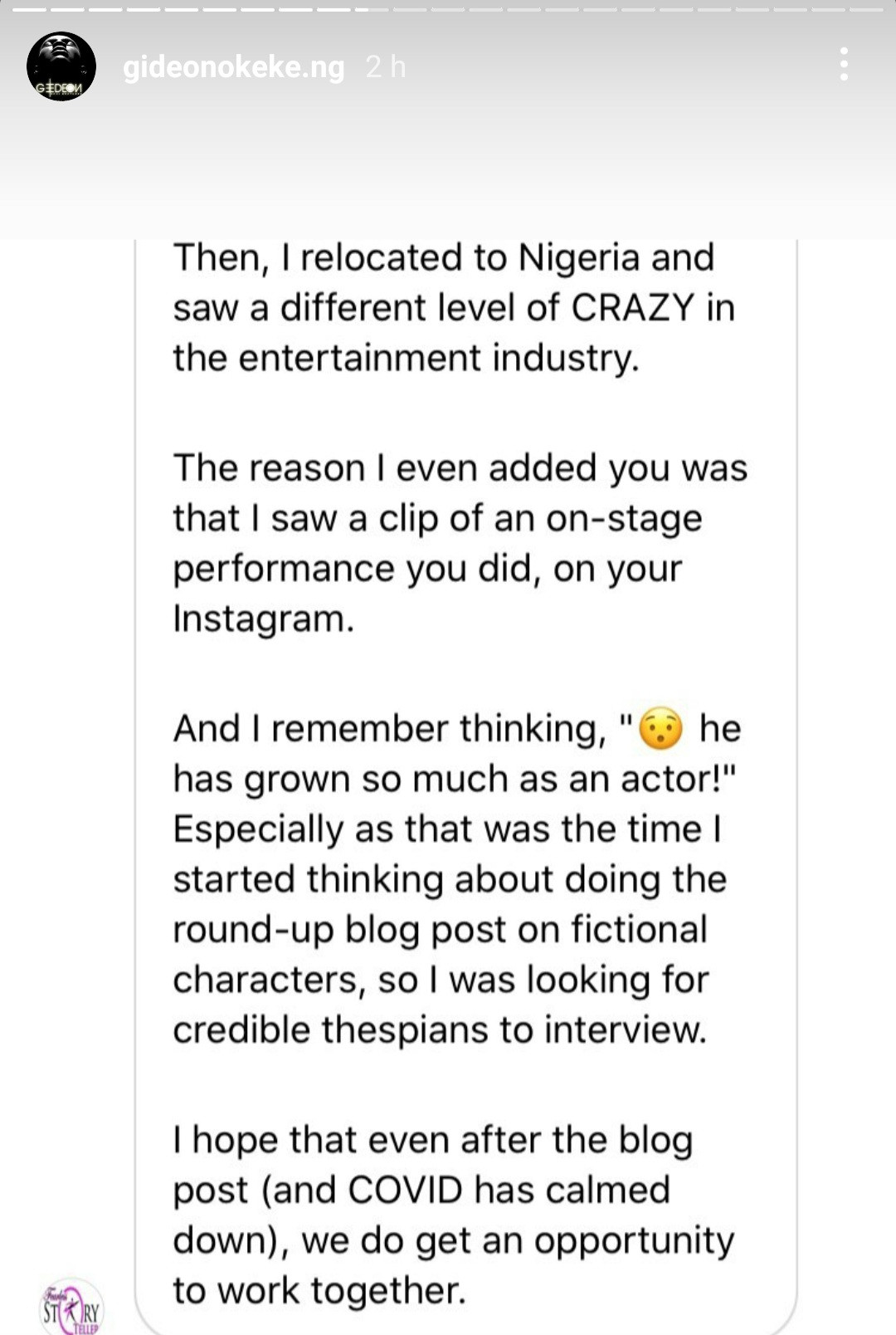 """""""I want to quit acting"""" Actor Gideon Okeke suffers emotional breakdown as he complains about the shabby manner in which actors are treated in Nigeria (video)"""
