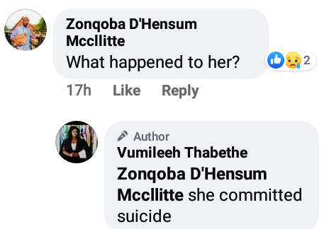 """You came into my life and destroyed it""- South African woman commits suicide shortly after sharing disturbing note on Facebook about her alleged boyfriend"