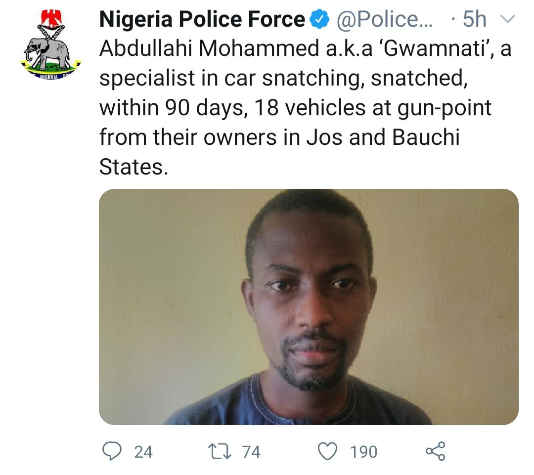 Man who snatched 18 vehicles at gunpoint in 90 days is arrested