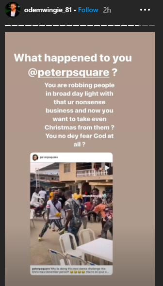 """""""You are robbing people in broad day light"""" Osaze Odemwingie calls out Peter Okoye"""