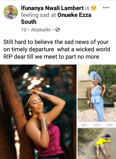 Beautiful young lady and her boyfriend reportedly shot dead by suspected cultists in Ebonyi