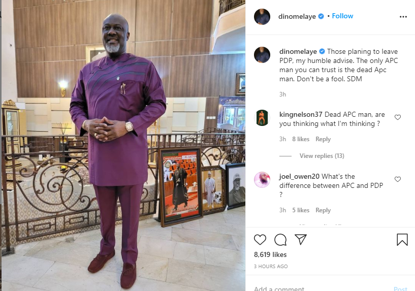 The only APC man you can trust is the dead APC man - Dino Melaye tells those defecting from PDP