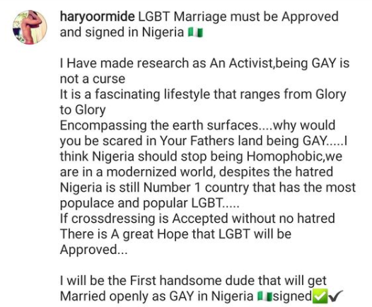 chef Ayo declares - I will be the first man to openly get married as a gay in Nigeria || PEAKVIBEZ