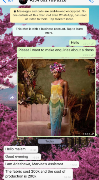 Twitter user shocked after a fashion designer told her the cost to make one of her designs