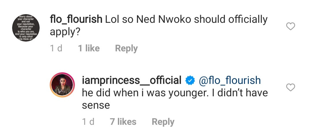 BBNaija star, Princess, claims billionaire businessman, Ned Nwoko, approached her when she was much younger but rejected him because
