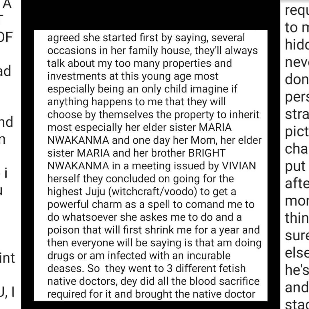Singer Duncan Mighty accuses his wife, Vivien, and her family of allegedly plotting to inflict him with an illness and take over his properties
