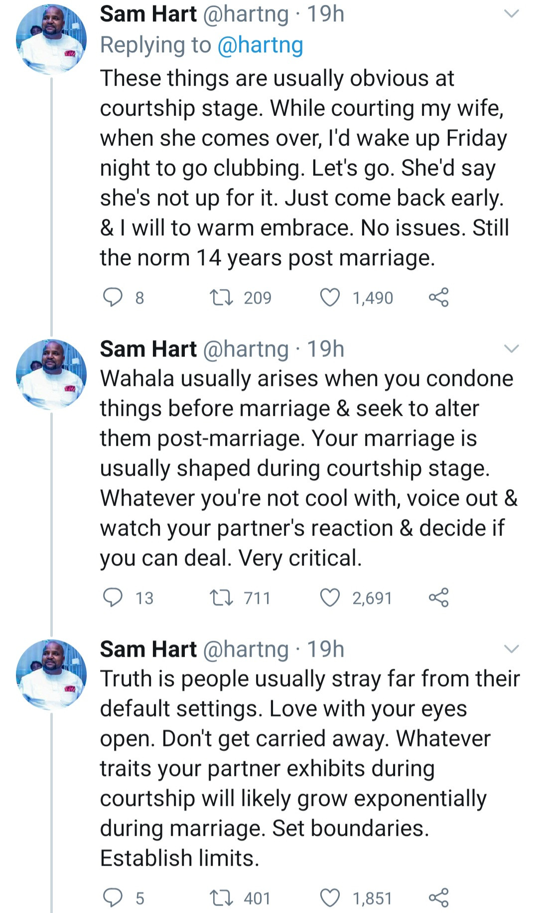 """""""Problem arises when you condone things before marriage & seek to alter them post-marriage"""" Director General of ASMQMA advices after 14 years of marriage"""