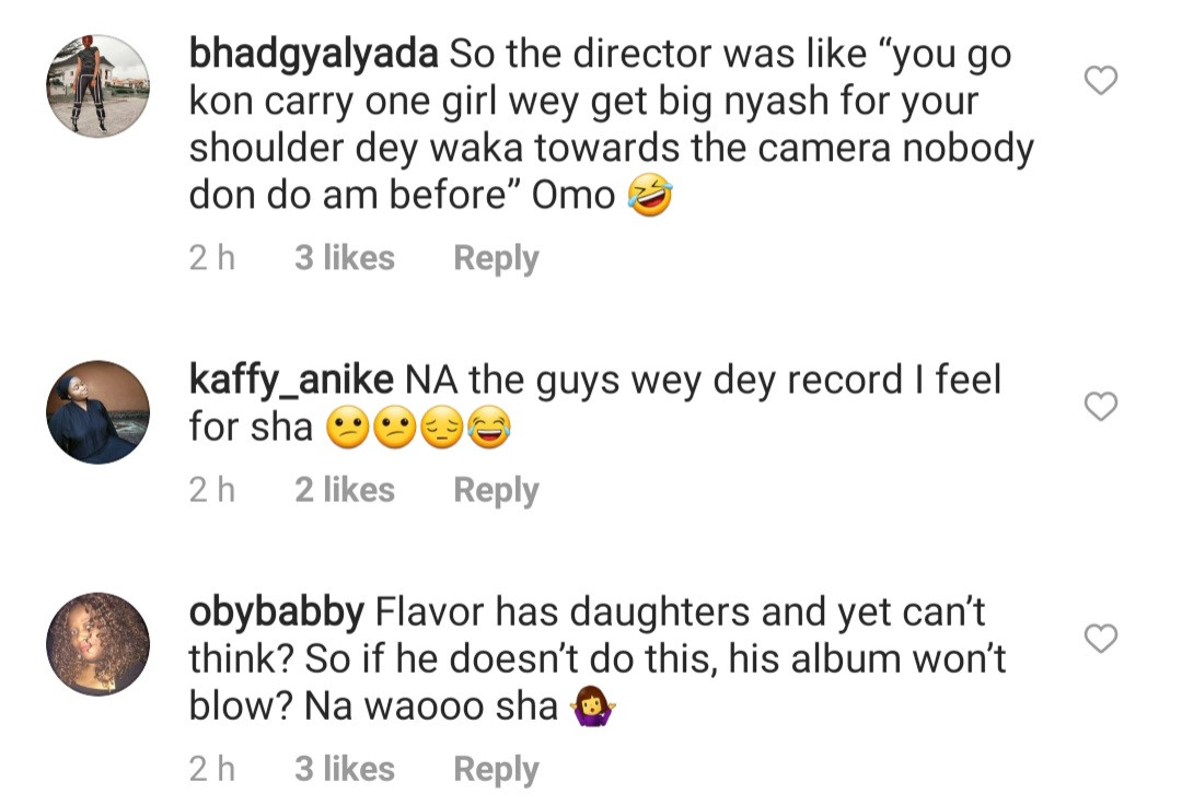 Nigerians react to new music video of singer, Flavour carrying a butt nak*d lady