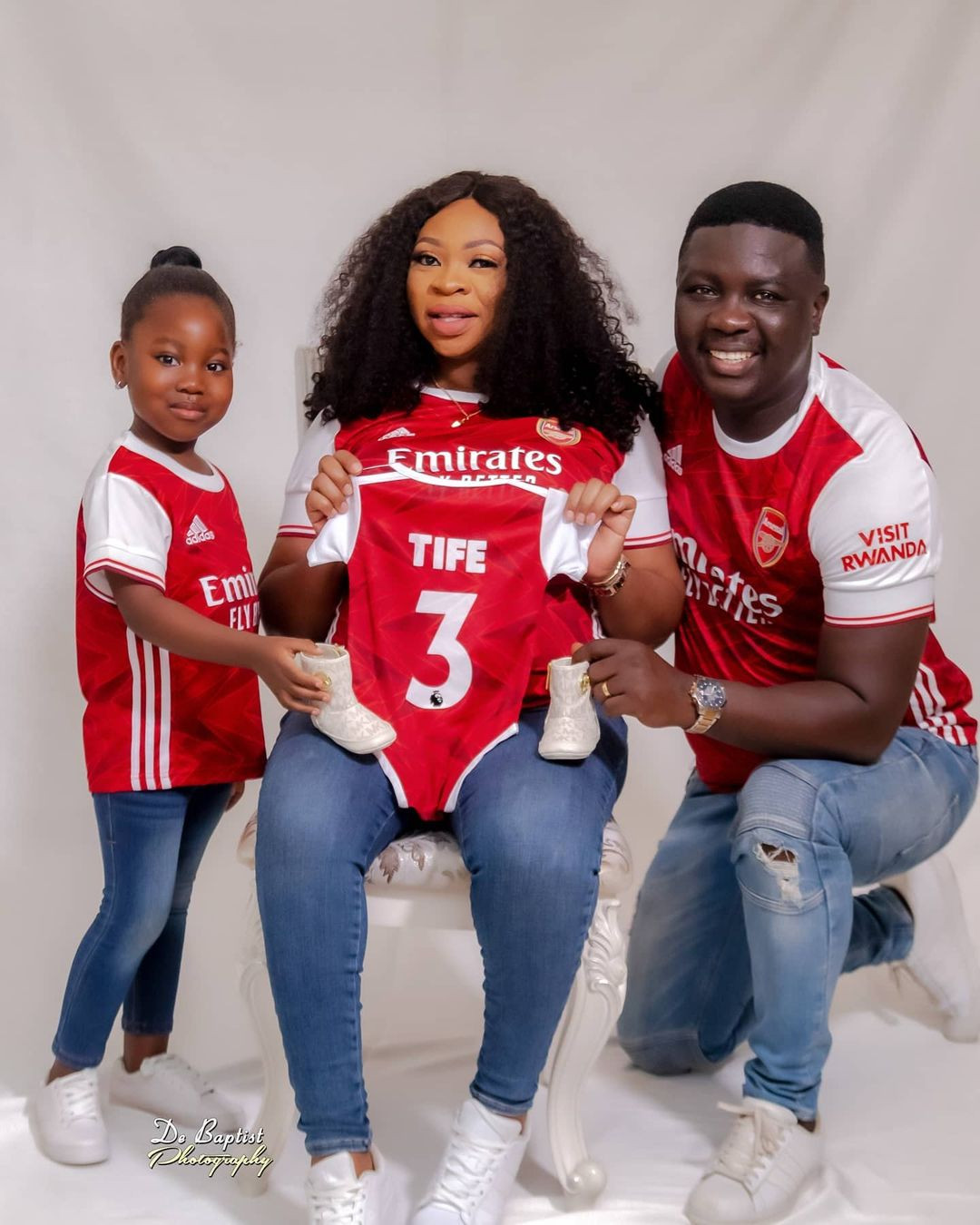 Comedian, SeyiLaw and wife welcome their second child, a baby girl (photos)