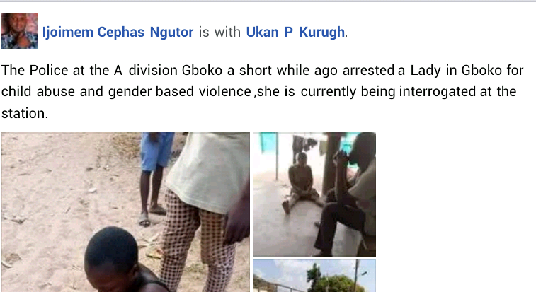 Update: Police arrest woman who beat up her 13-year-old daughter and threw her out naked into the street in Benue