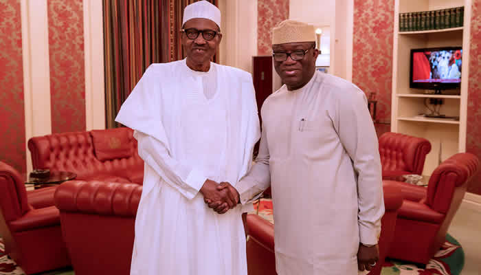 I meet Buhari from time to time. Nothing?suggests he is incapable of delivering on the responsibilities of his office- Gov Fayemi