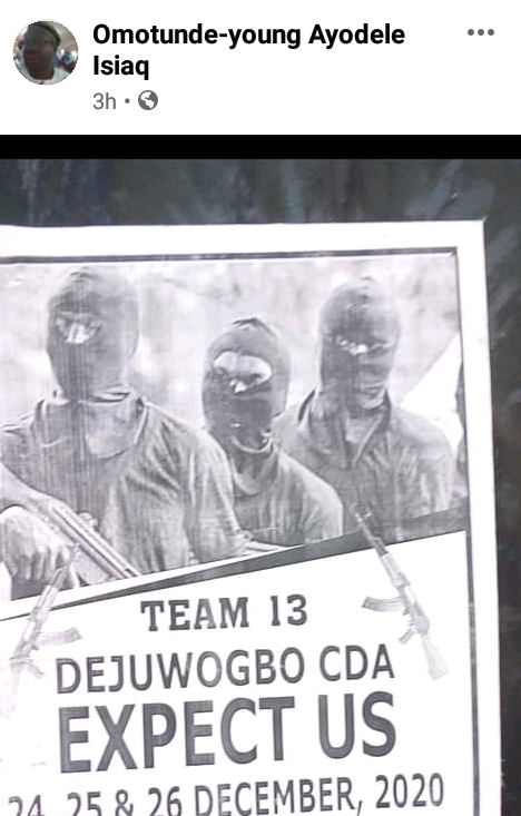 """""""Maximum cooperation or heads will roll"""" - Suspected robbers reportedly send threat letter to Ikorodu community"""