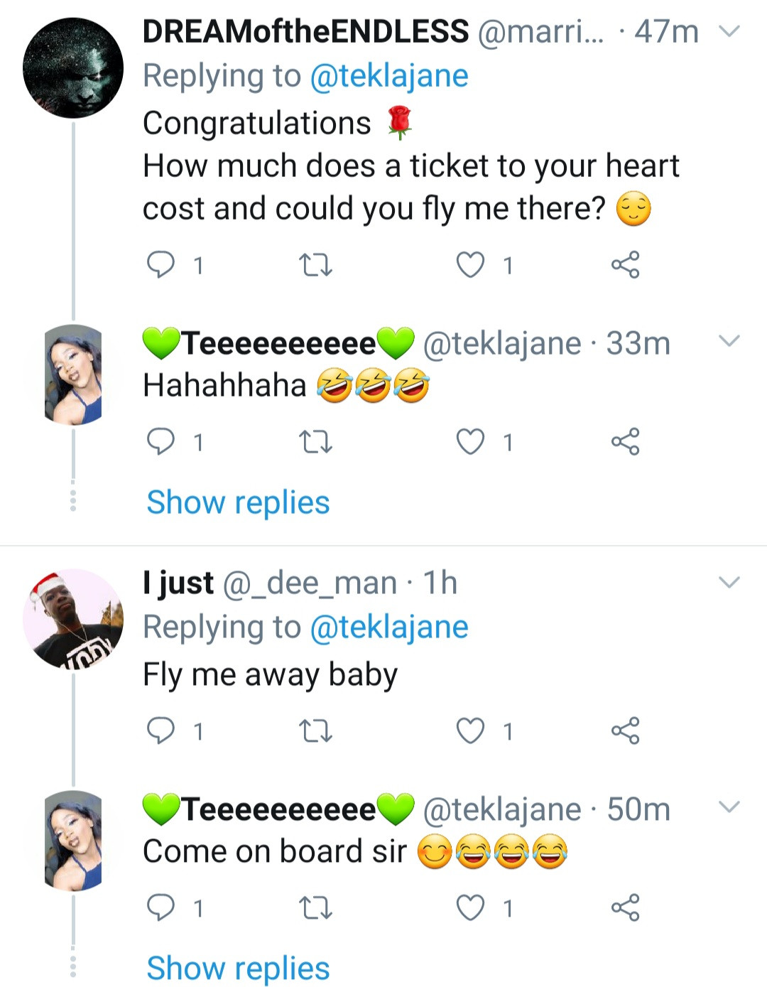 """""""I can cook and clean"""" Men declare love for a woman as she becomes a licensed private pilot"""