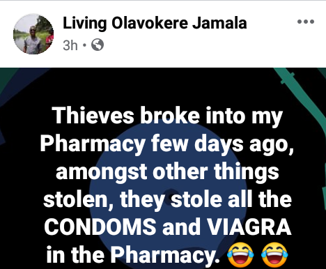 Thieves break into Pharmacy in Port Harcourt; cart away condoms and viagra