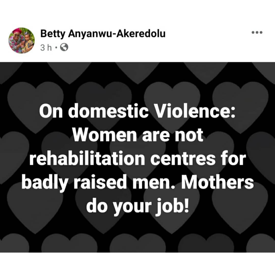"""""""Mothers raise your sons to respect womanhood""""- Ondo first lady, Betty Akeredolu says as she questions why Channels staff was reconciled with his wife"""