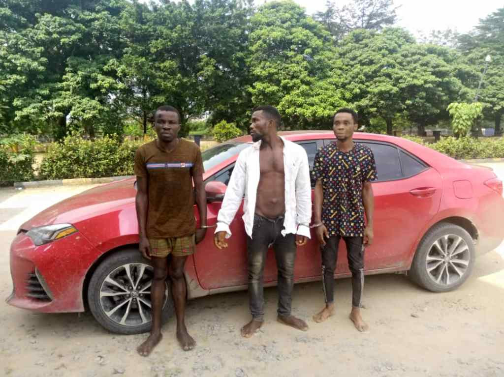 Police parade members of notorious robbery gang who tried to sell N8m car for N1m in Akwa Ibom