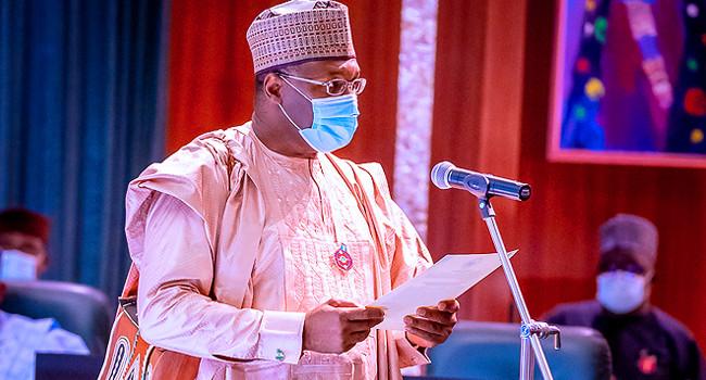 Buhari swears-in Yakubu for another term as INEC Chairman
