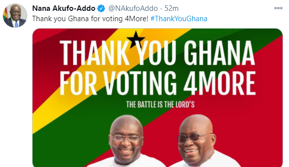 Ghanaian President, Nana Akufo-Addo wins re-election