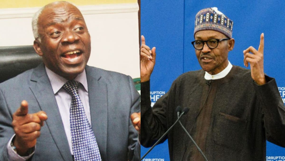 Don?t embarrass yourself by turning round to turn down the national assembly invitation ? Falana tells Buhari