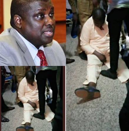 Breaking: Abdurasheed Maina collapses in court (photos/video)