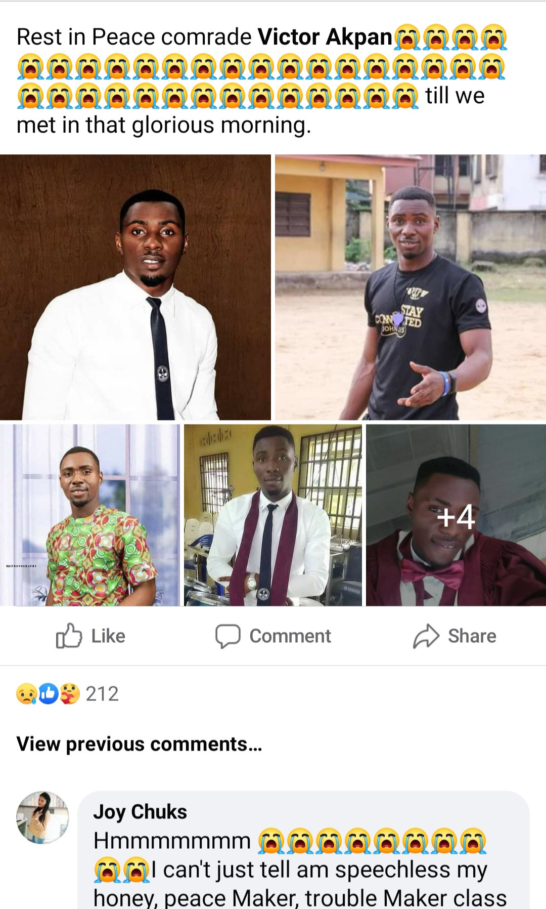 Friends mourn Nigerian man who allegedly slumped and died during the Nigerian Army screening at Ibawa