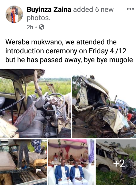 Groom dies in motor accident few days after his introduction ceremony