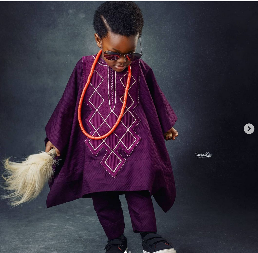 Toolz and husband Tunde Demuren release new photos of their son to celebrate him as he turns 2