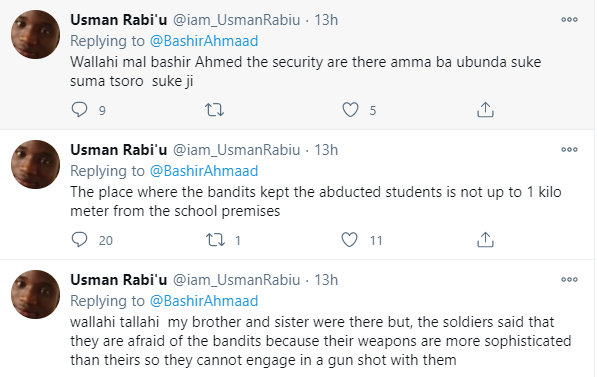Nigerians react after man who hailed President Buhari a few days ago calls for his immediate resignation after his brothers were kidnapped in the Katsina school attack